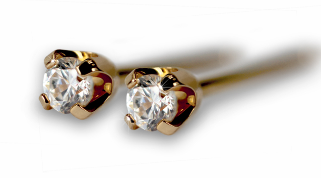Mors dag: Diamond Studs in 14 Karat (585) Gold by Studex