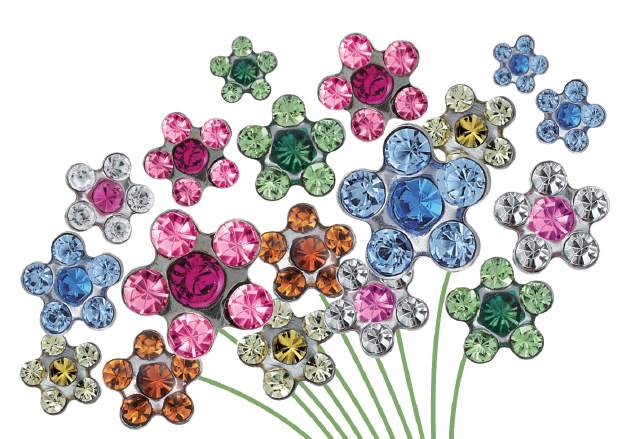 Örhängestrender 2016 – Nr 3: Flower Power — Daisy Piercing Studs for Studex System75